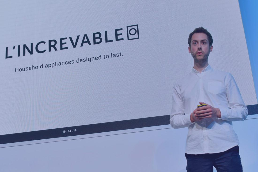 Christopher Santerre lors d'une conférence sur l'Increvable
